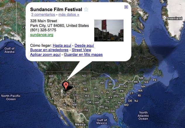 Google Maps - Sundance Festival (Utah)