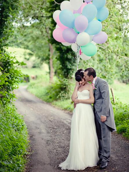 Alix en su boda - Cherry Blossom Girl