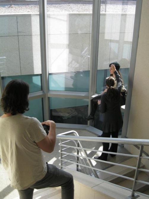 Visita a la Revista Mía con Branca in Madrid