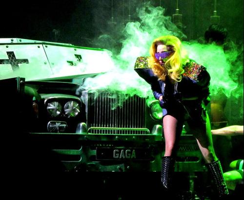 Lady Gaga en concierto en Madrid