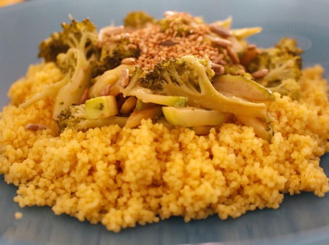 couscous al curry con brocoli