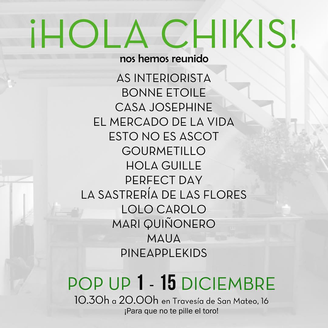 Chiki Pop Up Madrid
