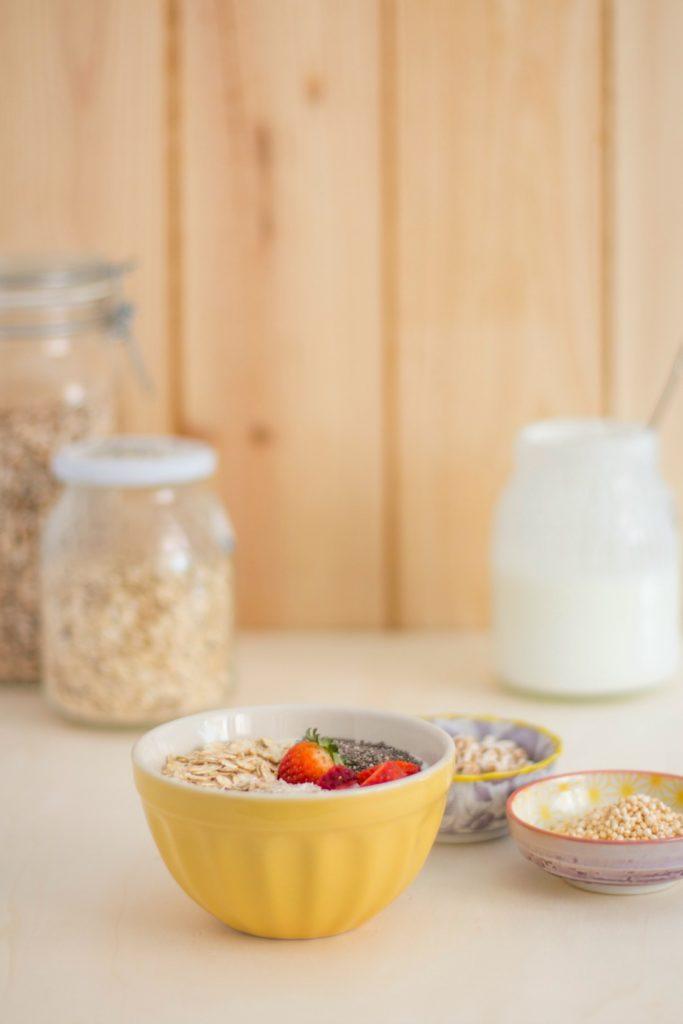 Desayuno sano con cereales