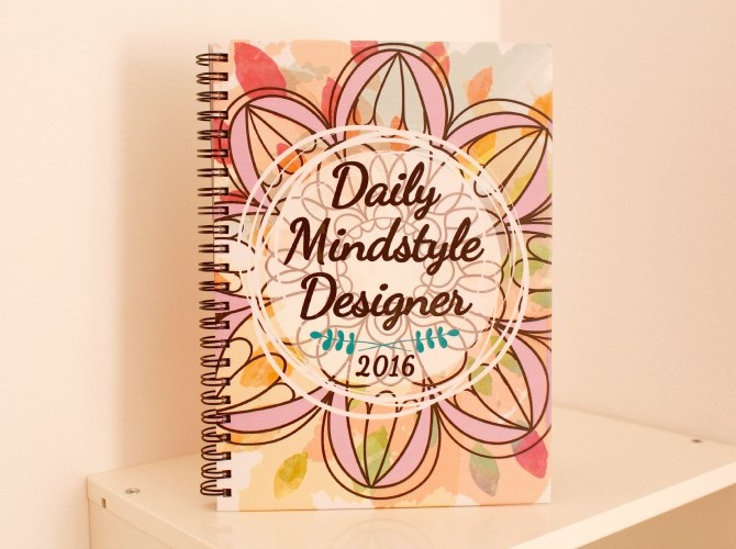 Daily Mindstyle Designer 2016 agenda portada