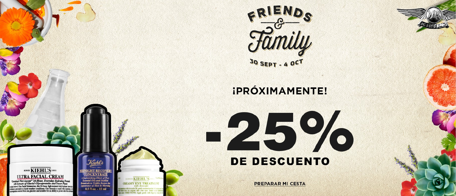 kiehls friends and family octubre 2020