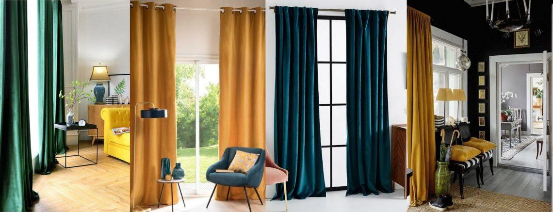 cortinas de terciopelo
