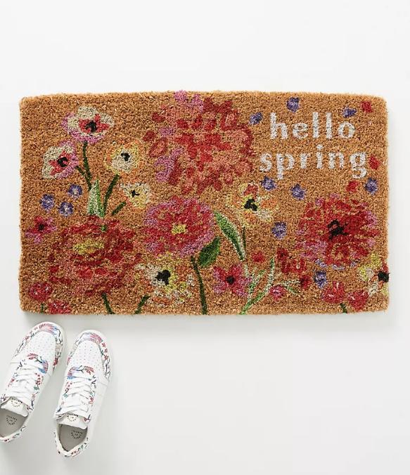 felpudos bonitos anthropologie - hello spring